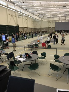 Not just a smoothy floor, but natural light made the SUNY Brockport SERC a preternaturally pleasant venue.